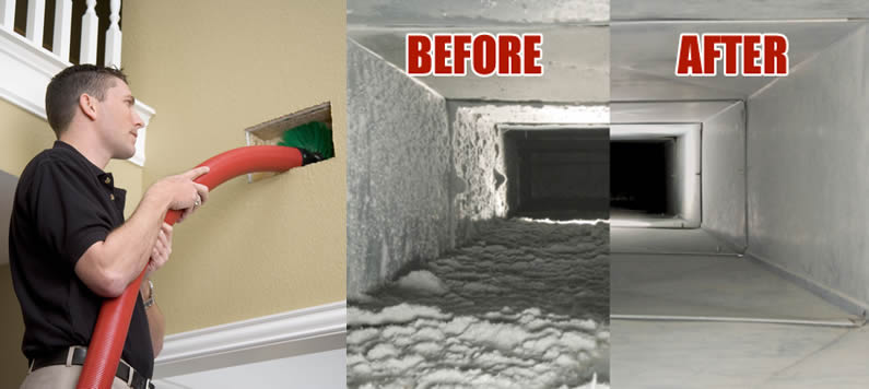 how to clean mold from air ducts